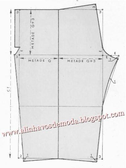 dicas de molde cal%C3%A7a moletom feminina 410x547 Molde calca moletom feminina para corte e costura