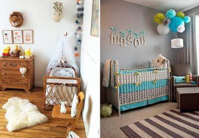dicas de quartos de bebês diferentes