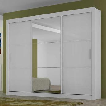 guarda roupa com espelho e 3 portas de correr Guarda roupa com PORTA DE CORRER amplia os espaços