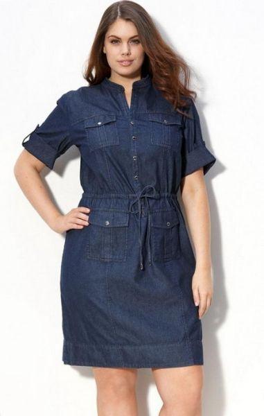 imagem 1 Vestidos jeans evangélicos belos e perfeitos