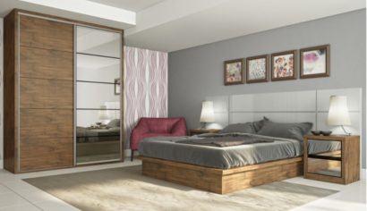jogo de quarto com guarda roupa porta de correr 410x236 Guarda roupa com PORTA DE CORRER amplia os espaços
