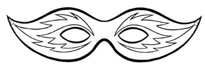 mascara de carnaval pra imprimir