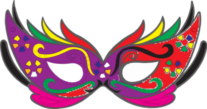 mascaras de carnaval colorida pra imprimir