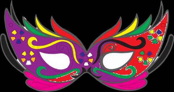 Modelos de Máscaras de carnaval para imprimir e colorir