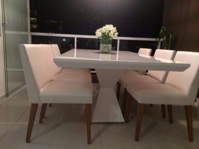 mesa de jantar em resina