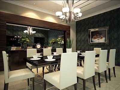 mesa de jantar grande com dez cadeiras