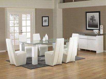 mesa de jantar moderna de vidro