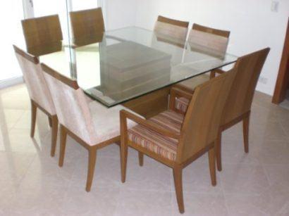 mesa de jantar quadrada de vidro