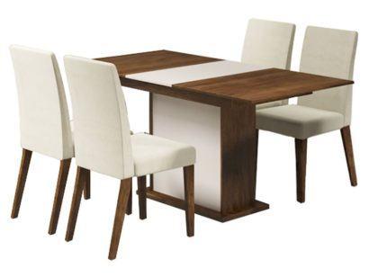 mesa de jantar quatro cadeiras de madeira