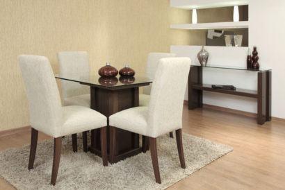 mesa de jantar quatro cadeiras delicada