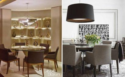 mesa de jantar redonda com seis cadeiras modelos