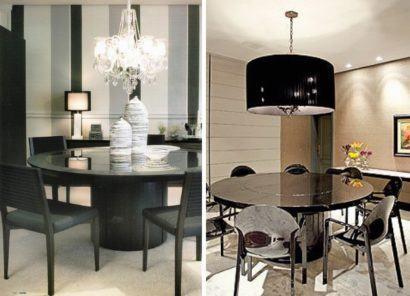 mesa de jantar redonda em mármore