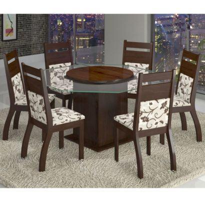 mesa de jantar seis lugares redonda