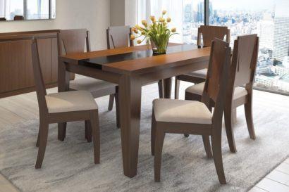 mesa de jantar seis lugares retangular