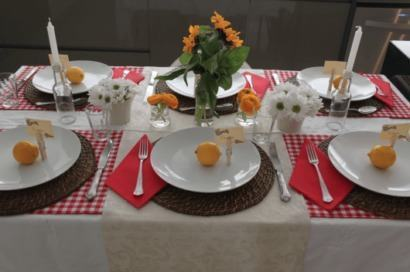 mesa de jantar simples retangular