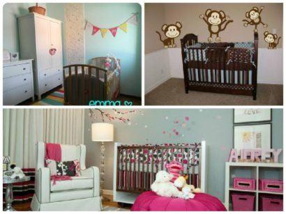 modelos de quartos de bebês diferentes