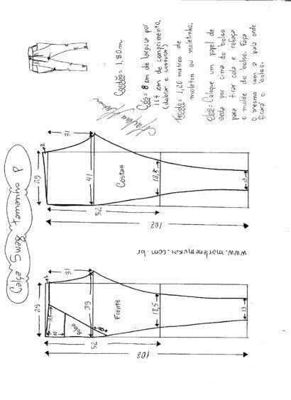 molde cal%C3%A7a moletom feminina modelo swag 410x564 Molde calca moletom feminina para corte e costura