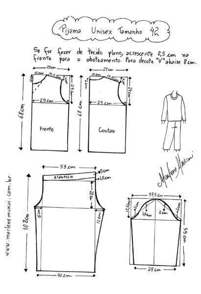 molde cal%C3%A7a moletom feminina pijama 410x600 Molde calca moletom feminina para corte e costura