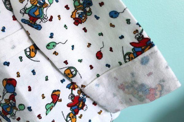 Molde de pijama de moletom vários tamanhos para corte e costura