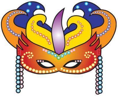 moldes de mascaras de carnaval para imprimir