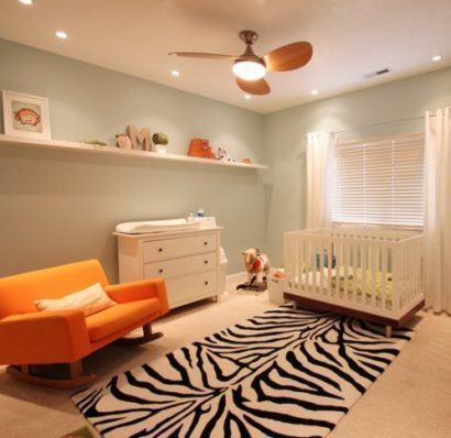 quartos de bebês decoração moderna grande