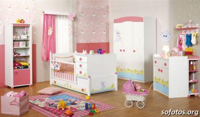 quartos de bebês decorados para meninas