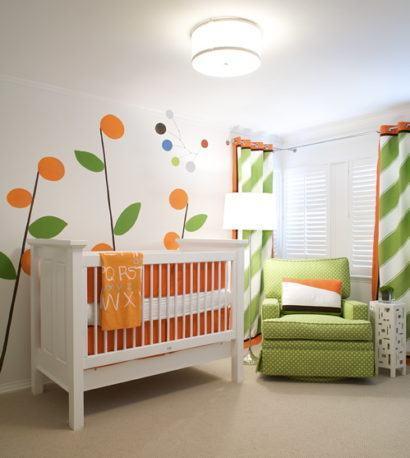 quartos de bebês diferentes colorido