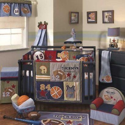 quartos de bebês estilo esportivo