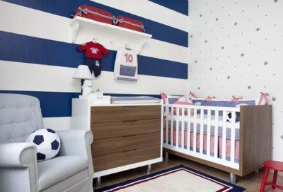 quartos de bebês estilo esportivo para casal de gêmeos