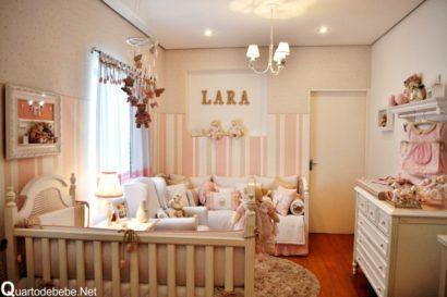 quartos de bebês estilo romântico pequenos