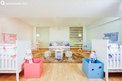 quartos de bebês gêmeos casal