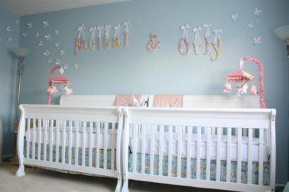 quartos de bebês gêmeos meninas
