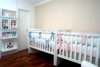 quartos de bebês gêmeos menino e menina