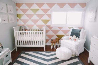 quartos de bebês modernos com papel de parede