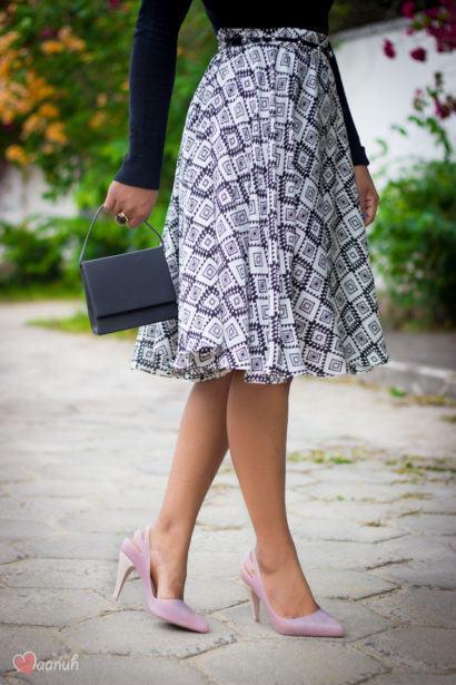 saias rodadas evang%C3%A9licas estampadas 410x615 Saias rodadas evangélicas moda para mulheres cristãs