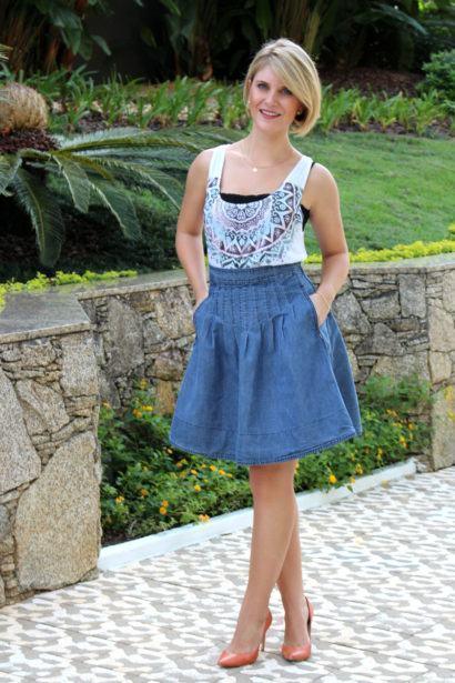 saias rodadas evang%C3%A9licas jeans 410x615 Saias rodadas evangélicas moda para mulheres cristãs