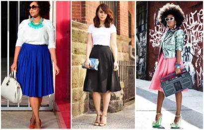 saias rodadas evang%C3%A9licas modelos estilo midi 410x261 Saias rodadas evangélicas moda para mulheres cristãs