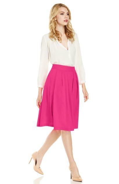 saias rodadas evang%C3%A9licas pink 410x633 Saias rodadas evangélicas moda para mulheres cristãs