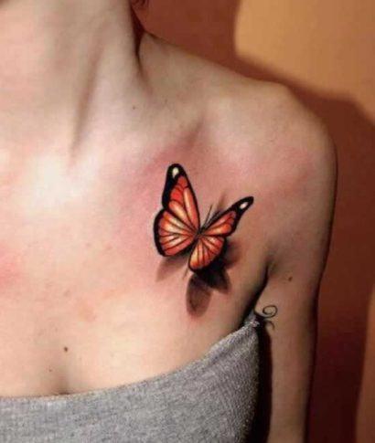 tattoo feminina 3d borboleta 410x485 Especial TATTOOs FEMININAS LEGAIS desenhos lindos