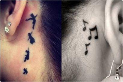 tattoos femininas legais atras da orelha 410x273 Especial TATTOOs FEMININAS LEGAIS desenhos lindos