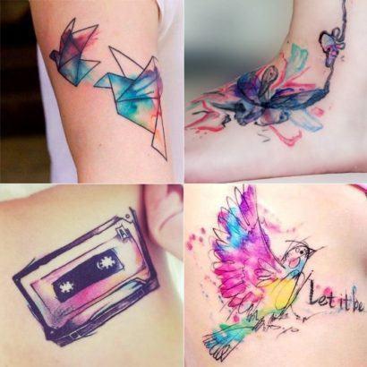 tatuagens femininas coloridas 410x410 Especial TATTOOs FEMININAS LEGAIS desenhos lindos