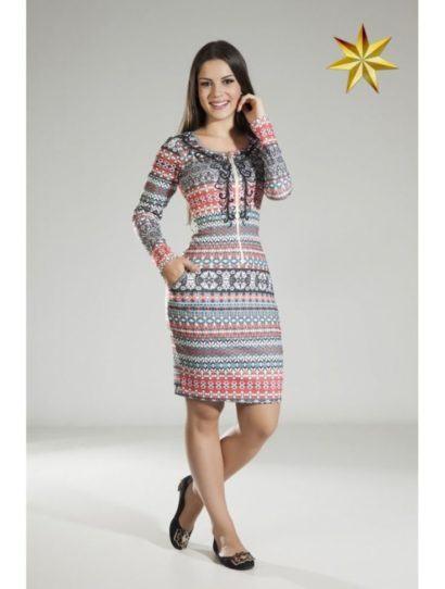 vestidos evangelicos estampa etnica 410x542 Vestidos para ir a igreja modelitos maravilhosos