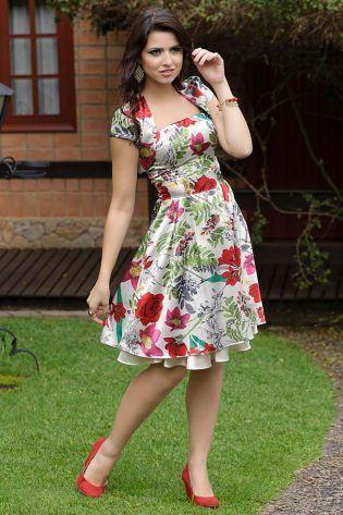 vestidos evangelicos floral Vestidos para ir a igreja modelitos maravilhosos