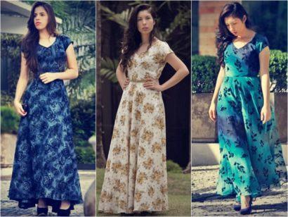 vestidos para ir a igreja longos estampados 410x308 Vestidos para ir a igreja modelitos maravilhosos