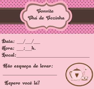 convites para cha de panela personalizavel Convites para chá de panela modelos prontos para personalizar