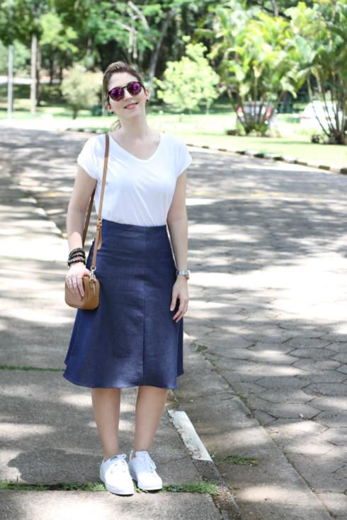 como usar saia jeans   t nis looks lindos modernos e
