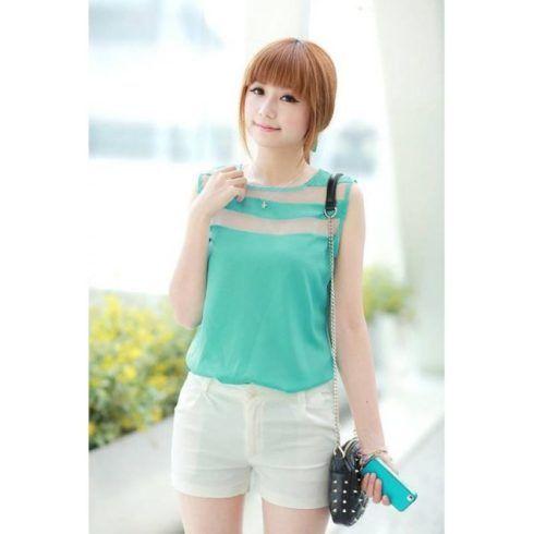blusa feminina seda transparente 490x490 Modelos de blusas : Regatinhas, modelos justinhos e muito mais