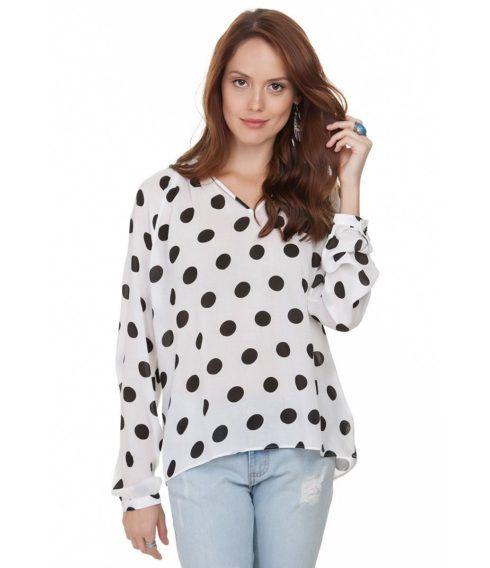 blusas feminina manga longa 490x568 Modelos de blusas : Regatinhas, modelos justinhos e muito mais