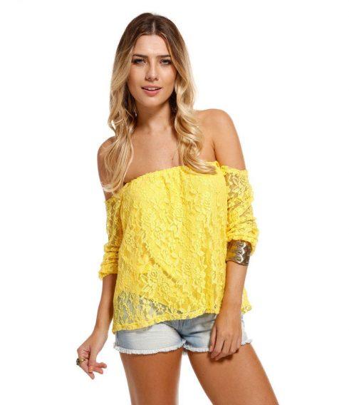 blusas femininas ciganinha 490x568 Modelos de blusas : Regatinhas, modelos justinhos e muito mais