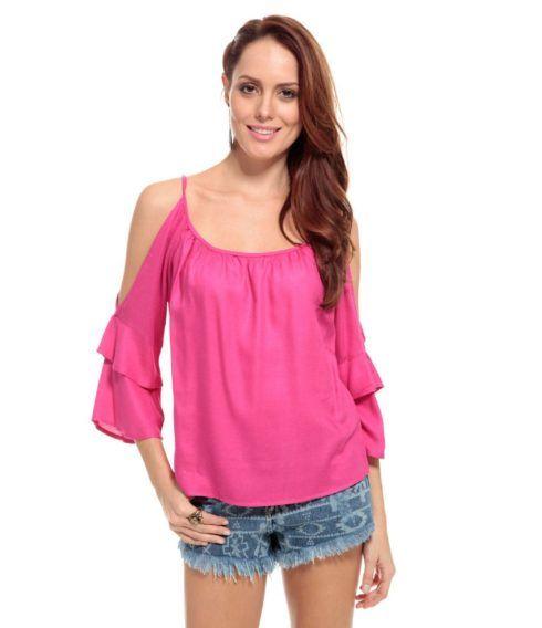 blusas femininas ciganinhas 490x568 Modelos de blusas : Regatinhas, modelos justinhos e muito mais
